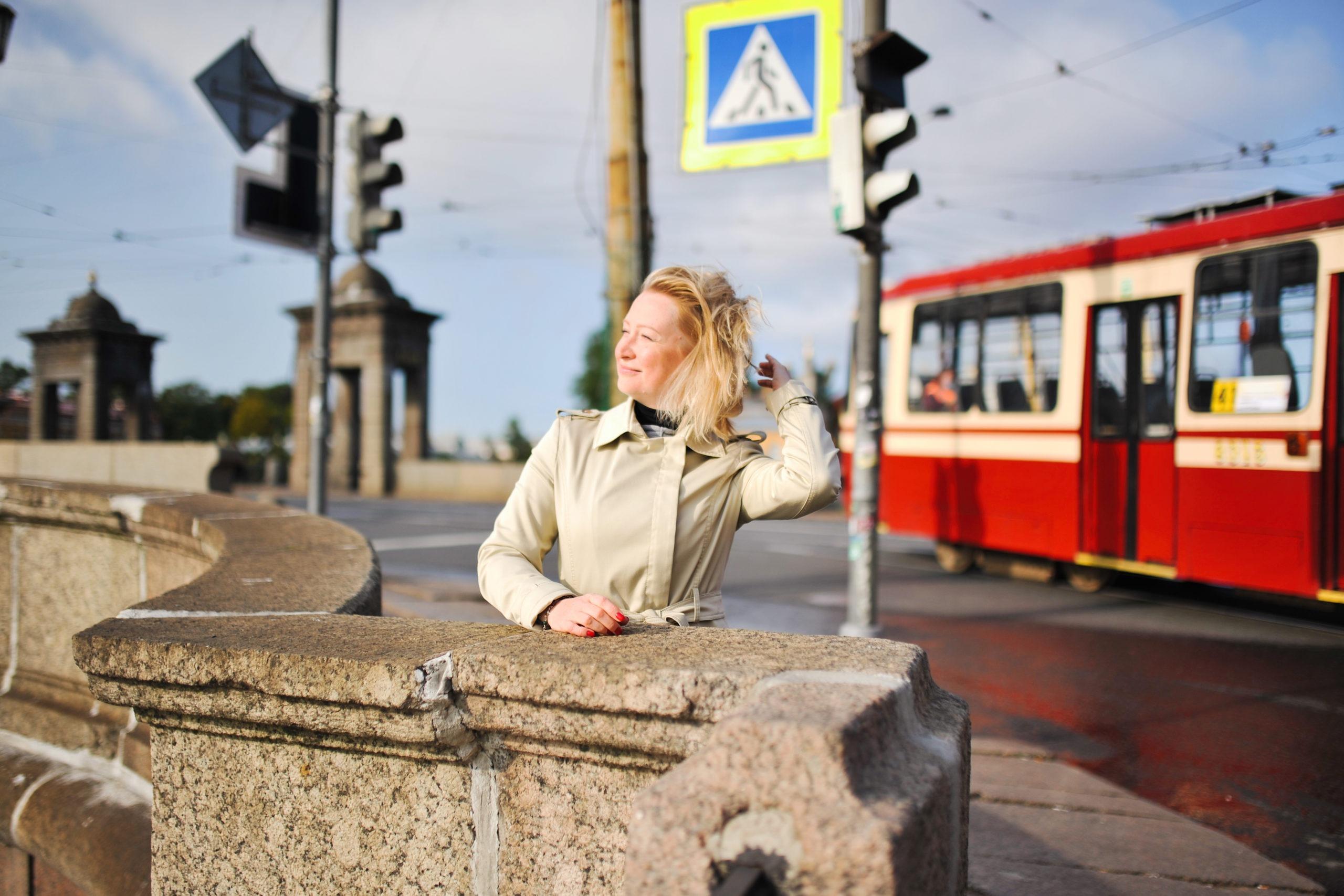 Фотосессия в Питере с трамваем
